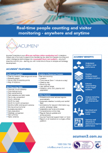 Acumen3 features and benefits